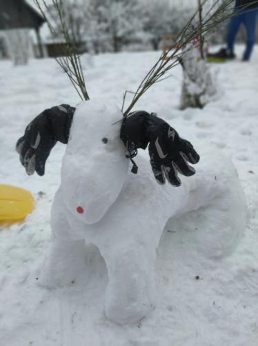 Soutěž o nejkrásnější sněhovou sochu