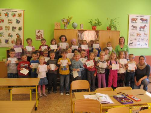 Předškoláci v 1. třídě 2016