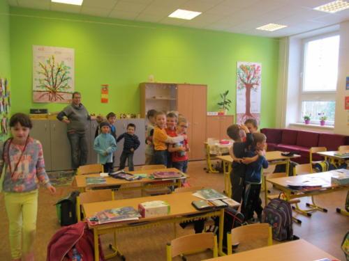 Návštěva předškoláků v první třídě