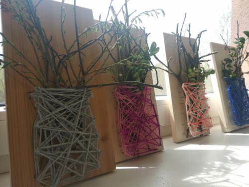 vypletení vázy vlnou